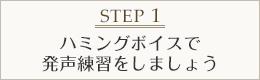 STEP1 ハミングボイスで発声練習をしましょう